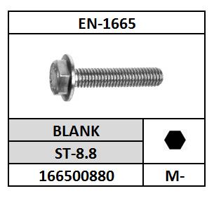 ZESKANTFLENSBOUT M-6X12 STAAL BLANK EN1665