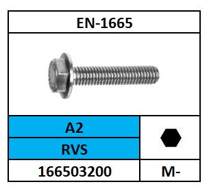 ZESKANTFLENSBOUT M-6X35 ROESTVASTSTAAL A2 EN1665