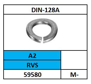 D128A-VEERRING-GEGOLFD/RVS-A2/M-5