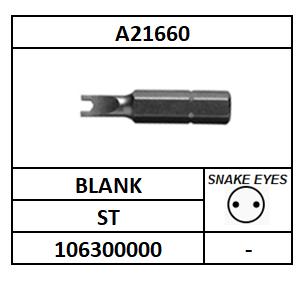 "A21660/BIT 1\4""-SNAKE EYE/ST-GEHARD-BLANK/SP4M-3"