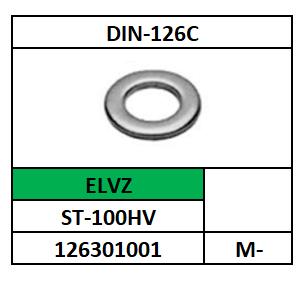 ~ISO7091-D126C/VLAKKE SLUITRING-2XD/ST-100HV-ELVZ/M-5