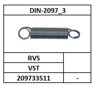 D2097_3/TREKVEER CILINDRISCH-2X GESLOTEN OOG/VST-RVS/dDL-1,6X11,6X143