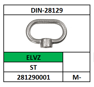 BEUGELMOER M-16 STAAL VERZINKT DIN 28129