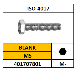 ISO 4017 TAPBOUT MESSING 5X40