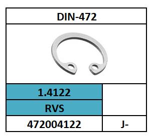 D472/ZEKERINGSRING-HUIS/RVS~A2-1.4122/J-8X0,8