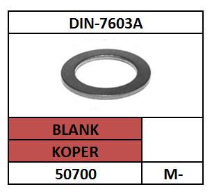 VLAKKE AFDICHTRING 4X8X1 KOPER KOPER DIN 7603A