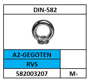 A58200~D582/OOGMOER-HANDELSUITVOERING/RVS-A2-GEGOTEN+POLIJST/M-6