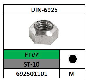 ZESKANTBORGMOER M-8 STAAL VERZINKT DIN 6925