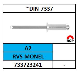A73372 BLINDKLINKNAGELS-STANDAARD 3,2X5,1