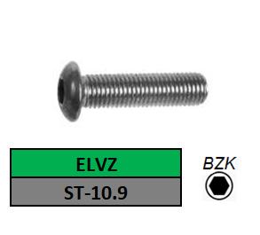 LAGE BOLKOPSCHROEF-BINNENZESKANT M-3X5 STAAL VERZINKT ISO 7380-2_1