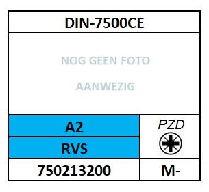 A75021~D7500CE/DRAADVORMENDE SCHROEF TT-PZD-PANCK/RVS-A2/M-4X10