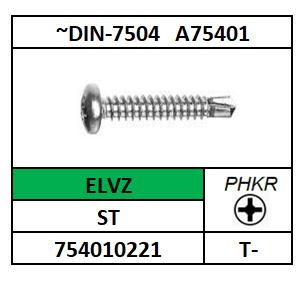 ~ISO15481~D7504NH/BOORSCHROEF-PHKR-PANCK/ST-ELVZ/H-3,5X9,5