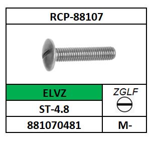 A88107/METAALSCHROEF-LBK-ZGLF/ST-4.8-ELVZ/M-6X10