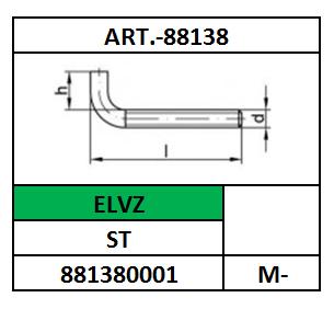 A43743/SCHROEFDUIM METRISCH/ST-ELVZ/M-4X40X10