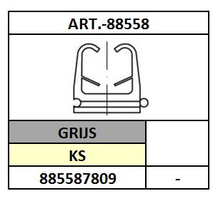 A88558/KLIKZADEL-FISCHER-FC/KS-GRIJS/6-9