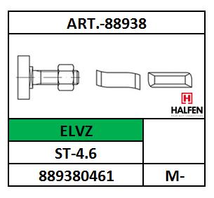 A88938/HAMERKOPBOUT-HALFEN/ST-4.6-ELVZ/M-10X20