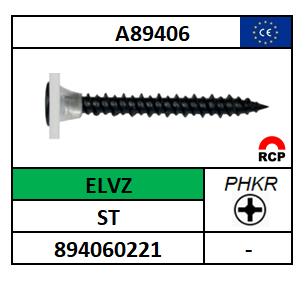 A89406/SNELBOUWSCHROEF HILO-PHKR-PLVKR/ST-ELVZ/3,9X19