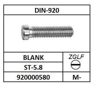 CILINDERBORSTSCHROEF-ZAAGGLEUF M-3X3 STAAL BLANK DIN 920