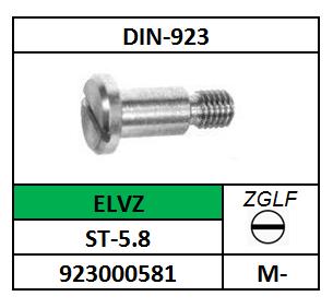 CILINDERBORSTSCHROEF-ZAAGGLEUF M-3X2 STAAL VERZINKT DIN 923