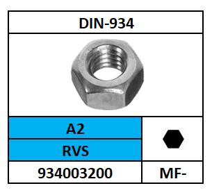 D934-ZESKANTMOER/RVS-A2-70/M-10