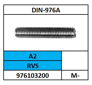 D976_1/DRAADEIND/RVS-A2/M-20X175